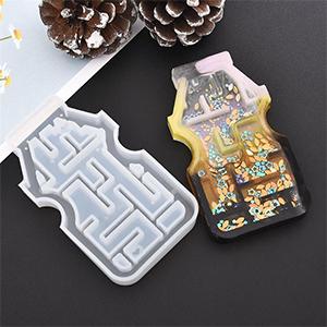 Maze Shaker Resin Molds Silicone Molds Castle Epoxy Keychain Mold Camera Molds Crystal Ball Keychain