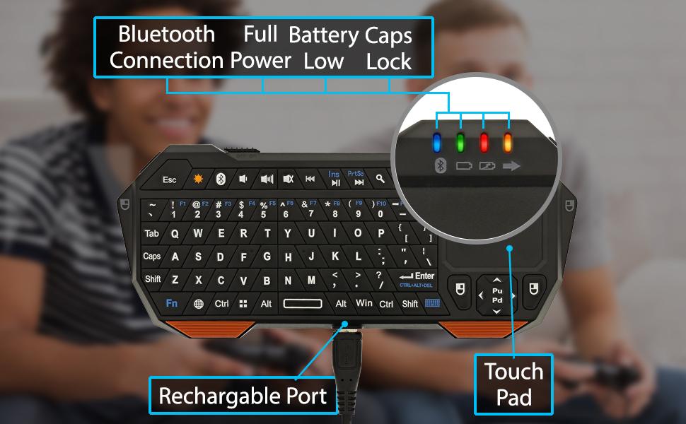 Fosmon Portable Lightweight Mini Wireless Bluetooth QWERTY Keyboard