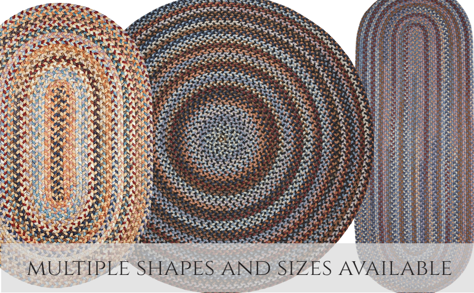 oval round runner braided rugs