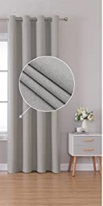 SMM beige Blackout Linen Look Curtains