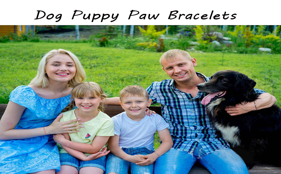 Dog Puppy Paw Bracelets
