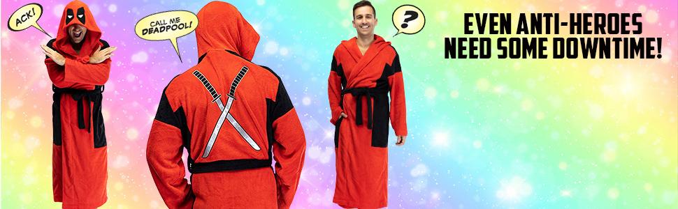 DeadPool hooded bathrobe