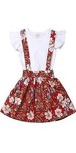 floral skirt set