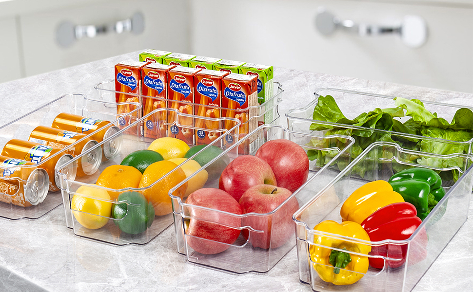 Nice fridge organizers and storage clear pantry Helper
