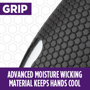 performance grip moisture wicking material
