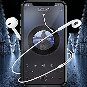High Fidelity Sound  2 Pack-Apple Headphones/Earphones/Earbuds with 3.5mm in Ear Wired Headphone Plug [Built-in Microphone & Volume Control] [Apple MFi Certified] Compatible with iPhone,iPad,iPod,Android,Laptops,MP3/4 cdbfc2fd 90b5 42c6 a66d 814097b59323