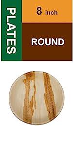 "8"" round plates"