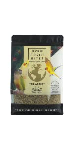 Small parrot food