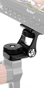 LED Light Monitor Top Handle Grip Handheld Video Rig U-Grip Stabilizing Rig with Cold Shoe Mount 1//4/&3//8 Holes to Mount Microphone
