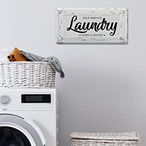 Life style pic of Laundry sign