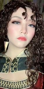 Tangled/Rapunzel Mother Gothel black curly wig