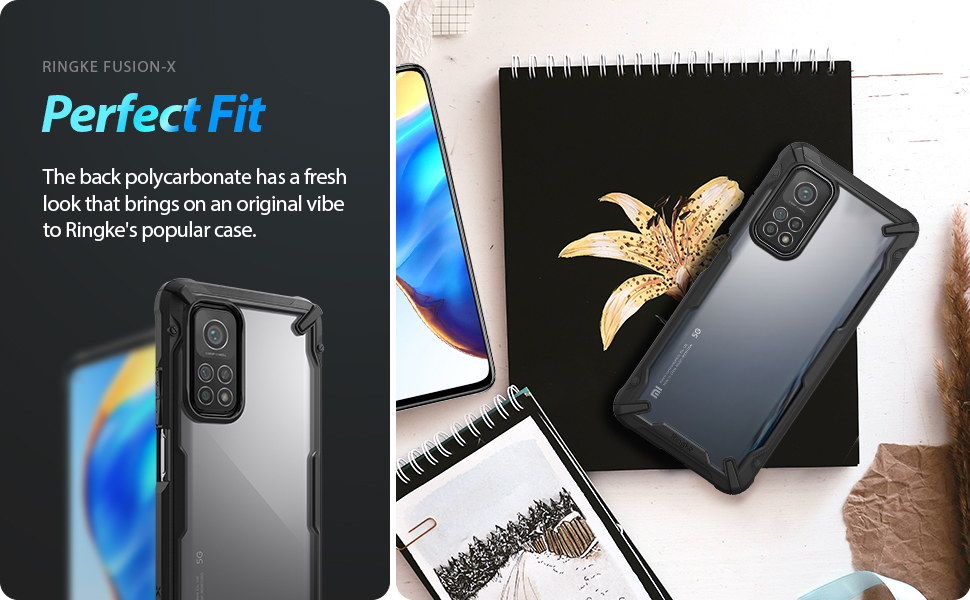 Ringke Fusion-X Compatible with Mi 10T 5G, Compatible with Mi 10T Pro 5G Case