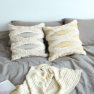 tassels rectangle pillows home decorative accent farmhouse boho chic cover bed bedroom