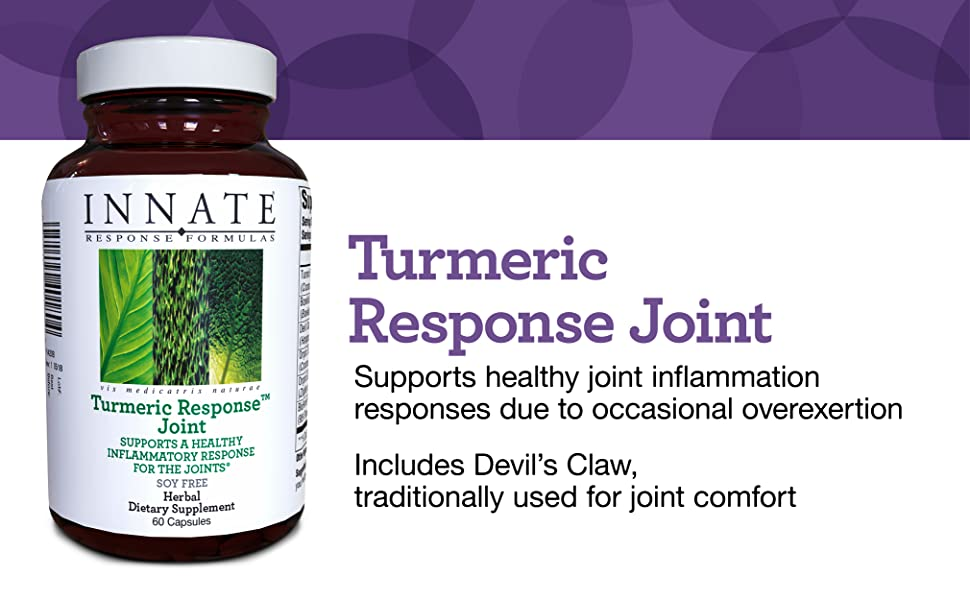 Turmeric Response Joint Supports healthy joint inflammation responses due to occasional overexertion