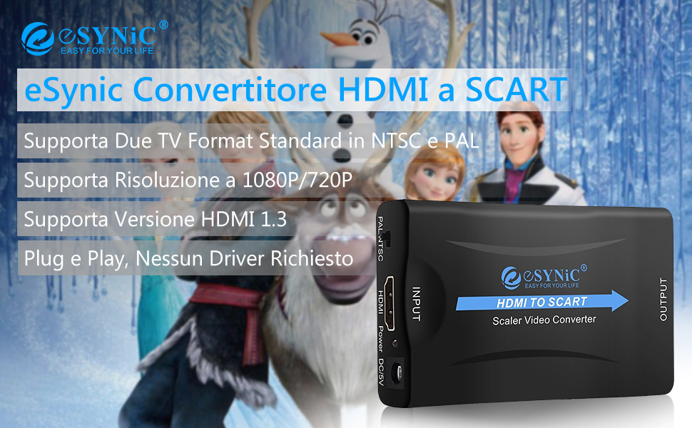 eSyni convertitore HDMI a Scart