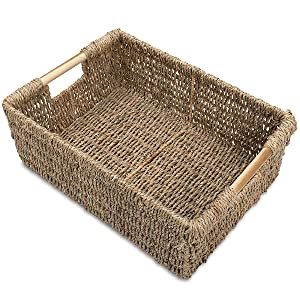 Large Low Seagrass Basket