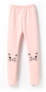 IRELIA 2 Pack Girls 100/% Cotton Fleece Lined Warm Leggings for Winter