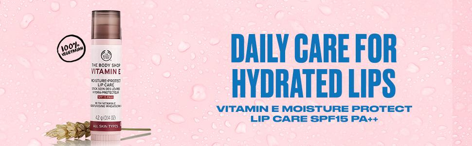 lips, vitamin e , bodyshop, loisture, lip care, hydrate