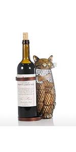 Cat wine holder