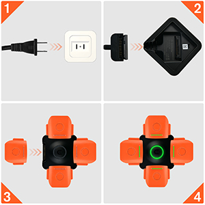 EVO II Batteries Multi Charging Hub- Easy to Use