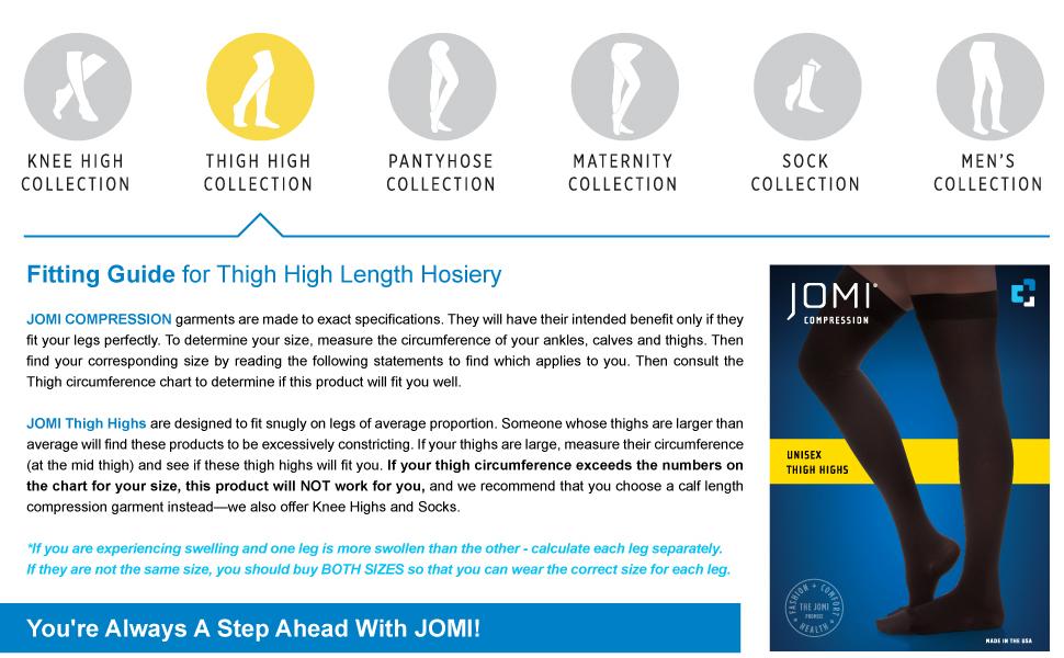 jomi thigh high compression stockings 20-30 10-15 30-40 8-10 mmhg women socks hose  tights toe less