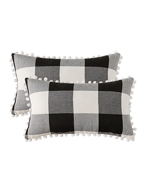 buffalo check pillow classic fall autumn decor Christmas white black