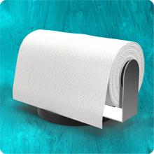 Horizontal Counter Top Paper Towel Dispenser