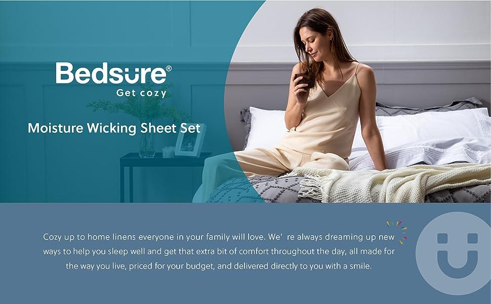 bedsure   model and sheet set
