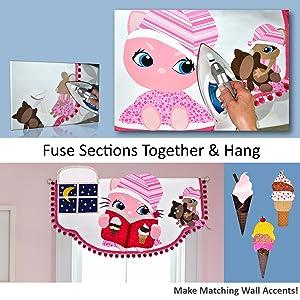 Children's room decorating kit easy no-sew nursery decorating idea kids bedroom wall decorations