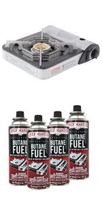 chefmaster butane stove portable camping stove top butane fuel for camping stove butane canister
