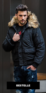 Ozonee winterjas voor heren, in verschillende kleurvarianten, warm bomberjack, gewatteerde jas, winterjas