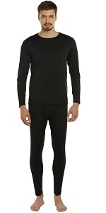 mens thermal underwear black