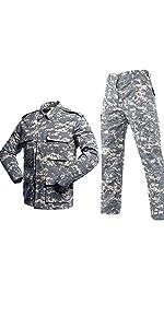 traje de camuflaje uniforme t/áctico impermeable LANBAOSI/ /Camisa de combate militar para hombre Airsoft Shirt secado r/ápido de manga larga
