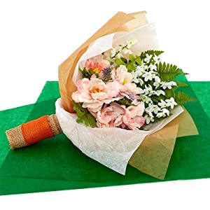 Wrapping Florals With Dry Wax Tissue Paper
