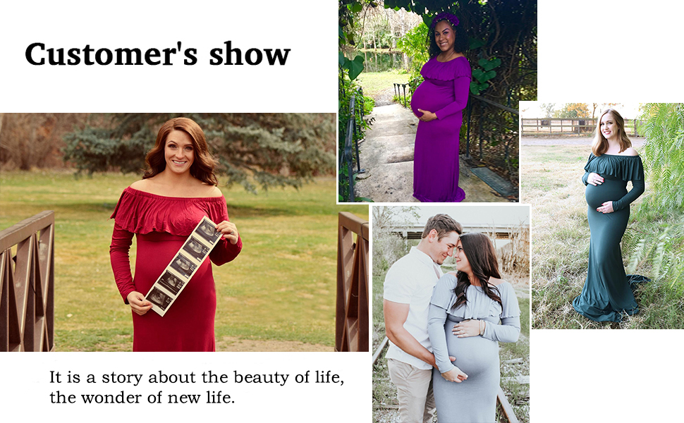 maternity gown for photo props