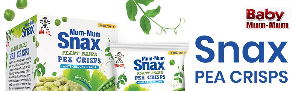 Mum-Mum Snax Pea Crisps White Cheddar