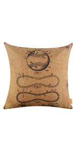LINKWELL Yellow Baseball Patent Pillow Cover