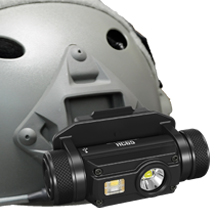 HC65M easy to snap onto a tactical helmet with the NVG mount