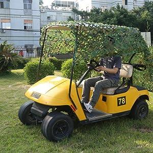 Golf Cart Cover Shade Military Camo Netting