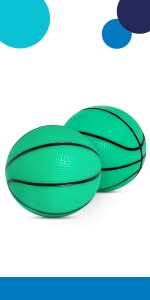 "Mini 5"" Glow-in-The-Dark Basketball for SKLZ Pro Mini Hoop Midnight"