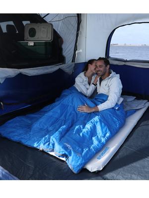 Warm double wide sleeping bag