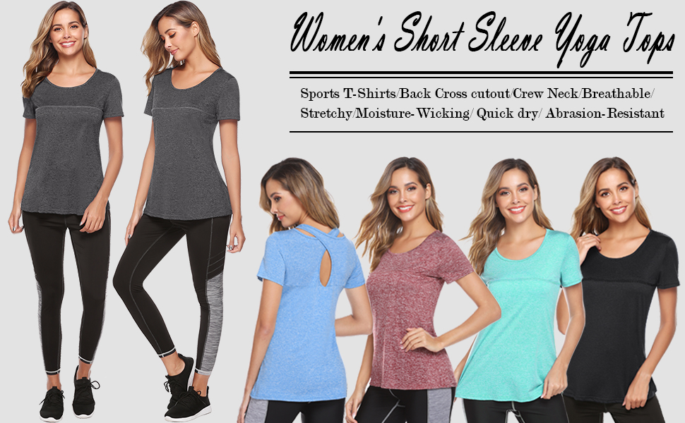 Women's Short Sleeve Yoga Tops