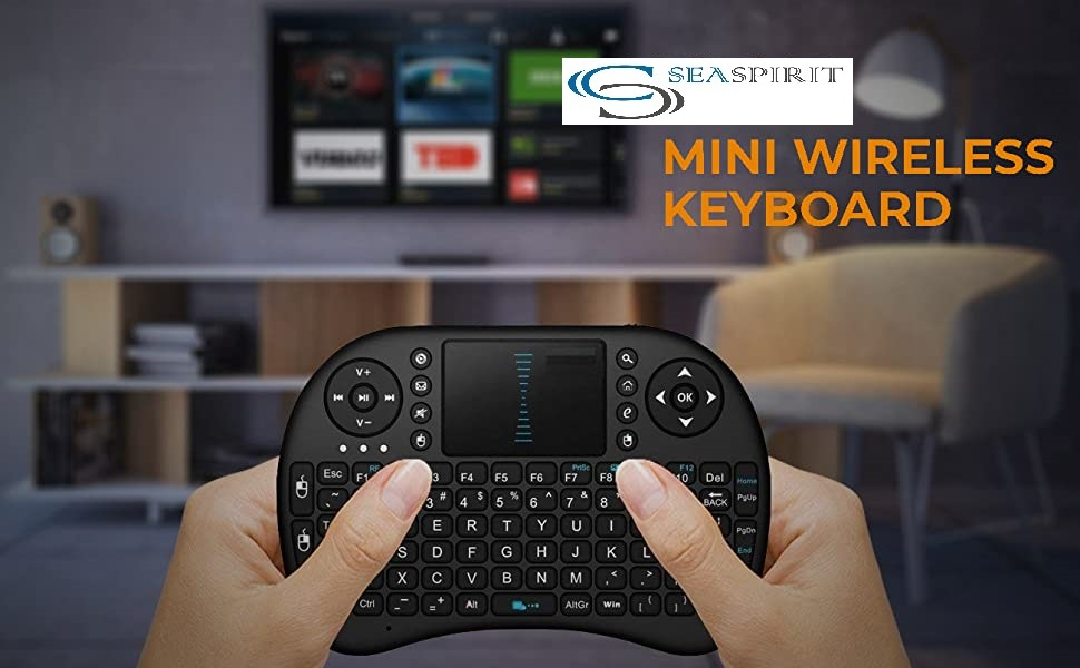 SEASPIRIT Mini Wireless Combo of Keyboard with Mouse