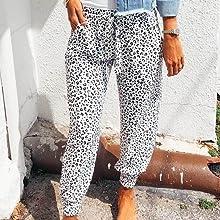 Women's Jogger Long Pants Drawstring Elastic Waist Sweatpants Camouflage Lounge with Pockets