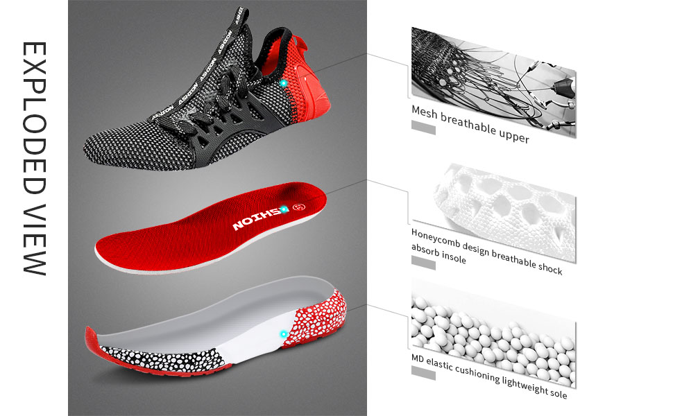 running shoes details