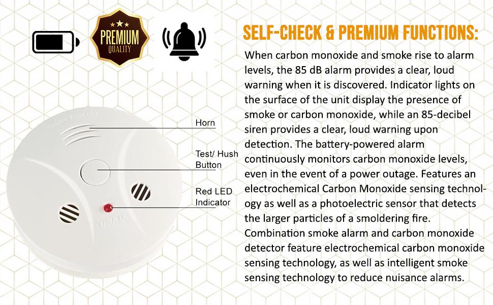smoke and carbon alarm