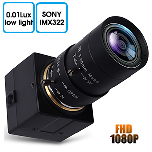 1080P USB Webcam low light usb camera5-50 zoom focus
