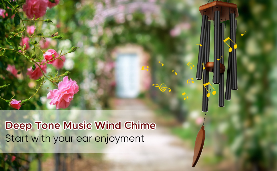 deep tone music wind chime