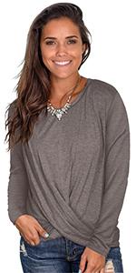 winter fall tops for women casual long sleeve shirt fashionable tops for leggings