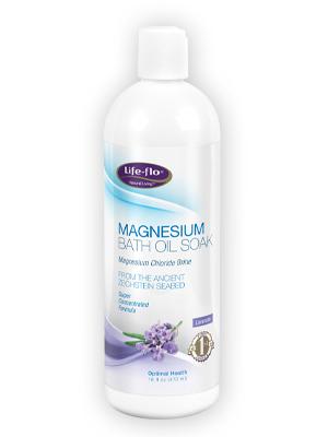 Life-Flo Magnesium Bath Oil Soak, Lavender Scent Magnesium Chloride Soothes Muscles amp; Joints 16oz